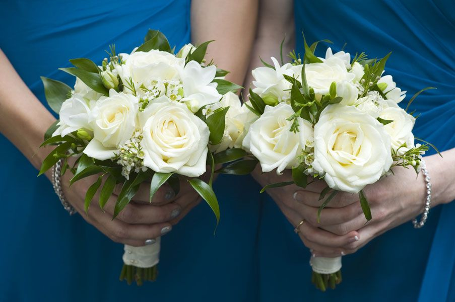 small wedding bouquets small blue white bridesmaid bouquet search 7557