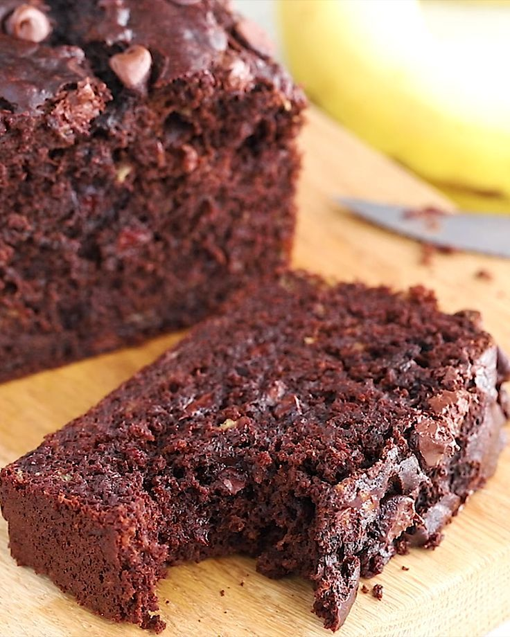 Chocolate Chocolate Chip Banana Bread - Fit Foodie