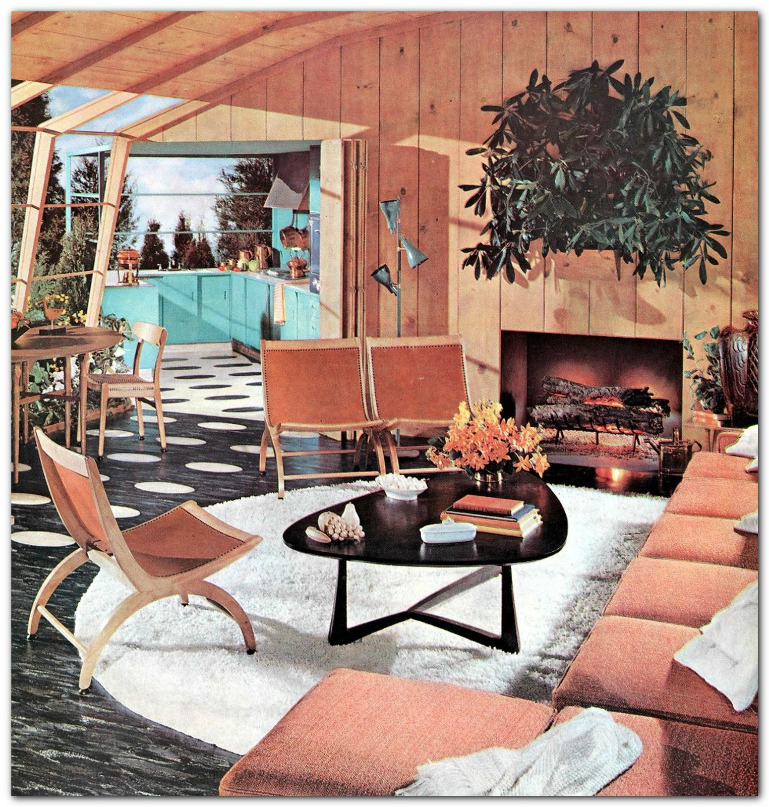 Scarce 1956 Mid Century Modern Home Interior Decoration Design