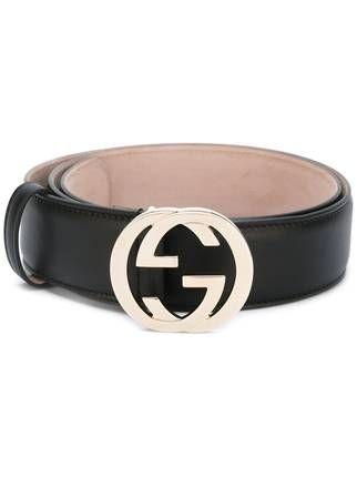 d0db59c2a73 Gucci Leren Riem Met In Elkaar Grijpende G-gesp | I wish | Gucci ...