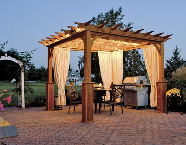 une pergola bois quelques id es inspirantes en photos pergola bois pergola et. Black Bedroom Furniture Sets. Home Design Ideas