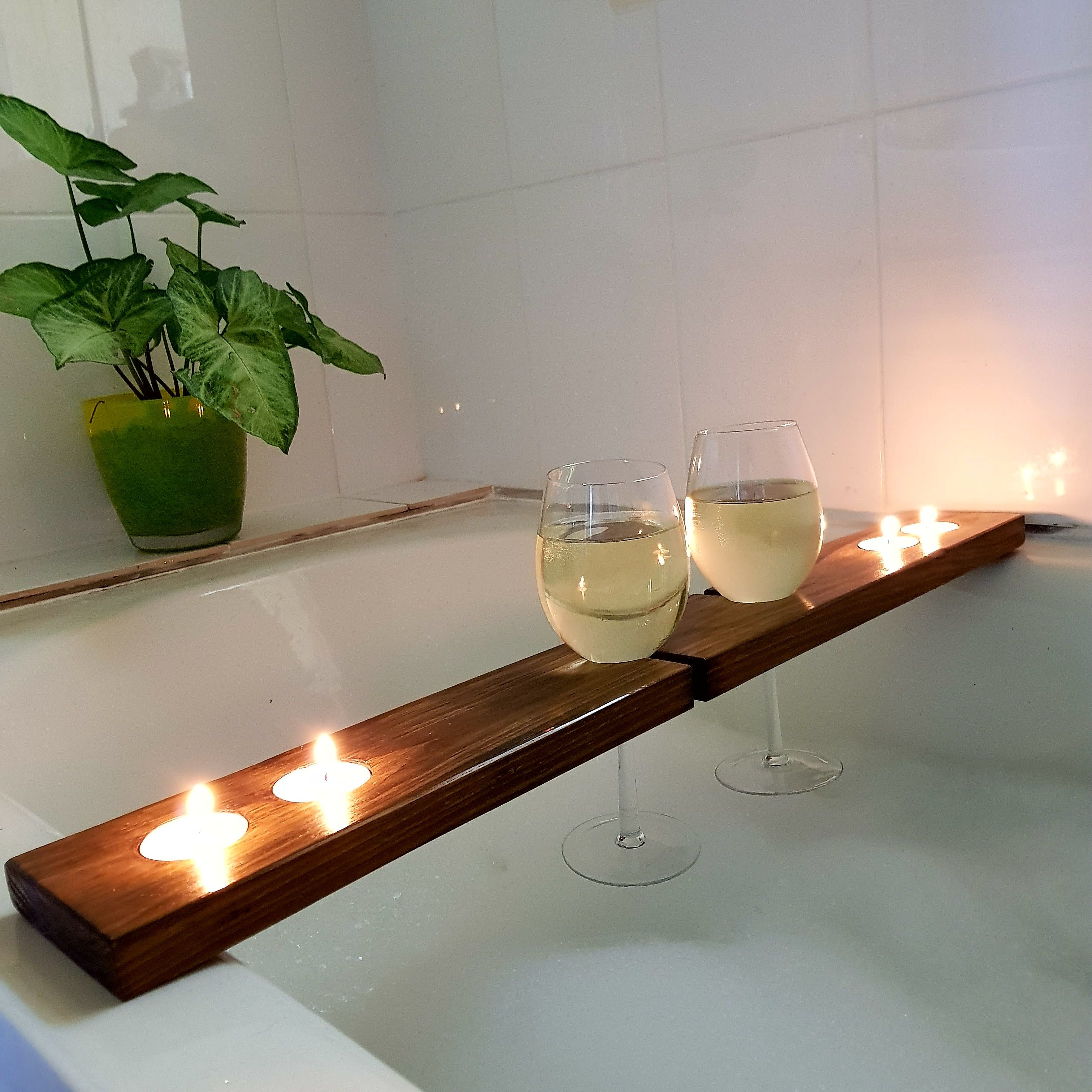 Rustic Timber Bath Caddies - made to order and specification by Bear ...
