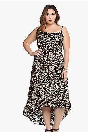 Leopard Ruffle Dress, $68.50, Torrid | 22 Super Adorable Plus-Size Dresses For Spring