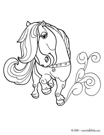 Kawaii pony coloring page. Cute and amazing farm animals coloring ...
