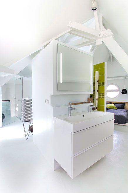 Zolder slaapkamer suite met badkamer  Inrichtinghuiscom  Ideeën woning   # Wasbak Zolder_223946