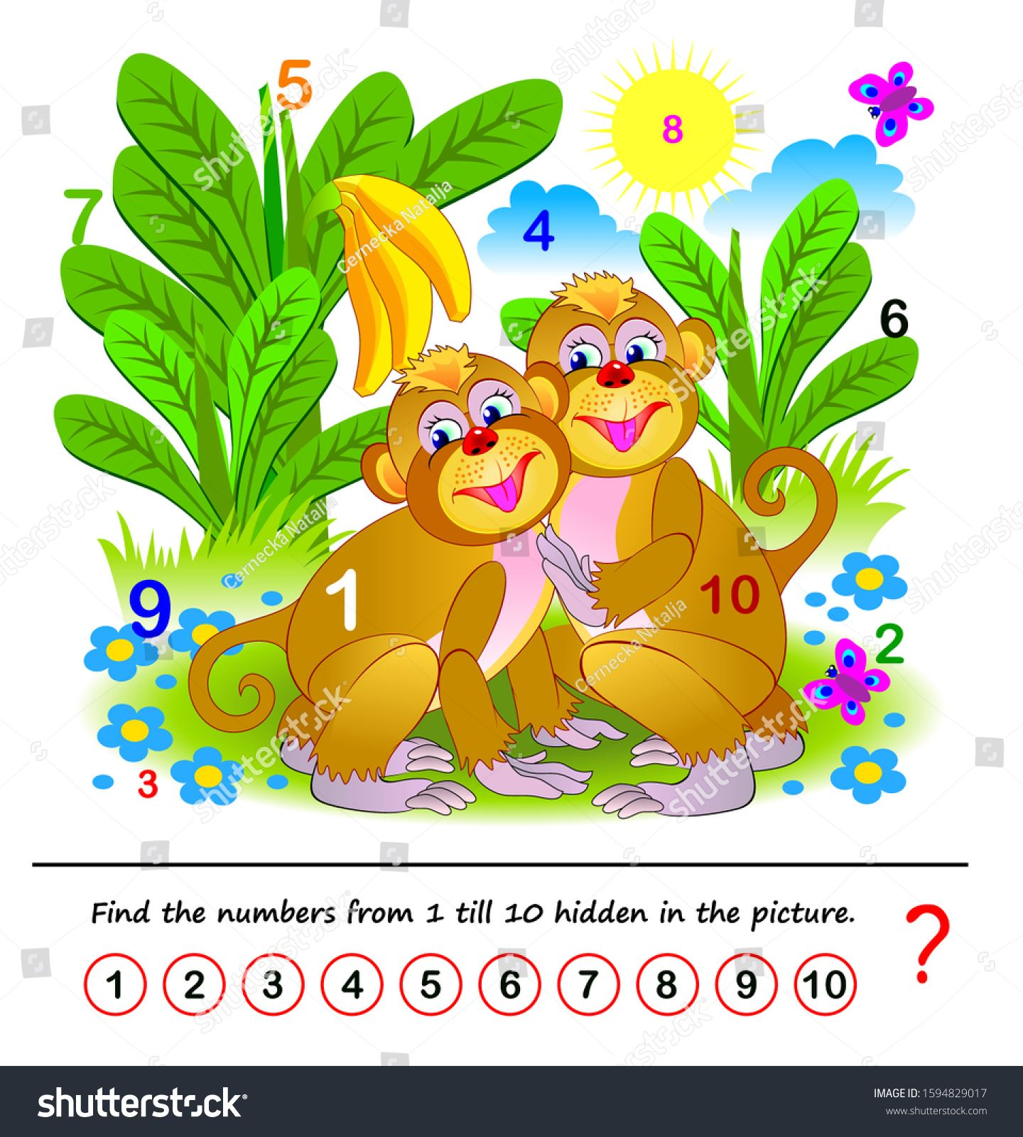 Math Education For Children Logic Puzzle Game Find The