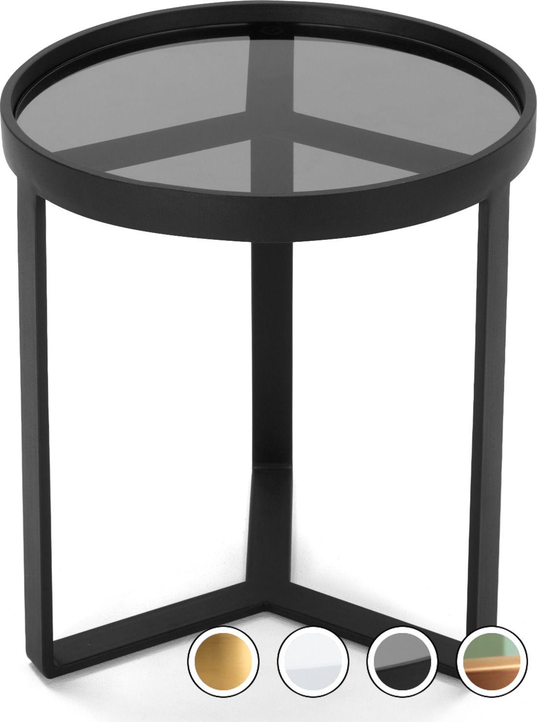 Aula Side Table, Black and Grey