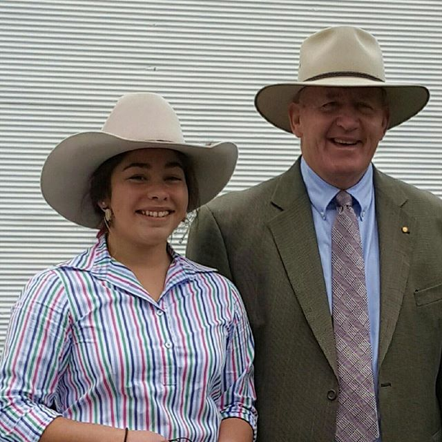 Thanks to Emi for sending us this great photo of Herself with The Governor General - Sir Peter Cosgrove at a rural event in NSW this week. Both love their Akubra Hats #akubraofficial #madeinaustralia #nsw #rural #familybusiness