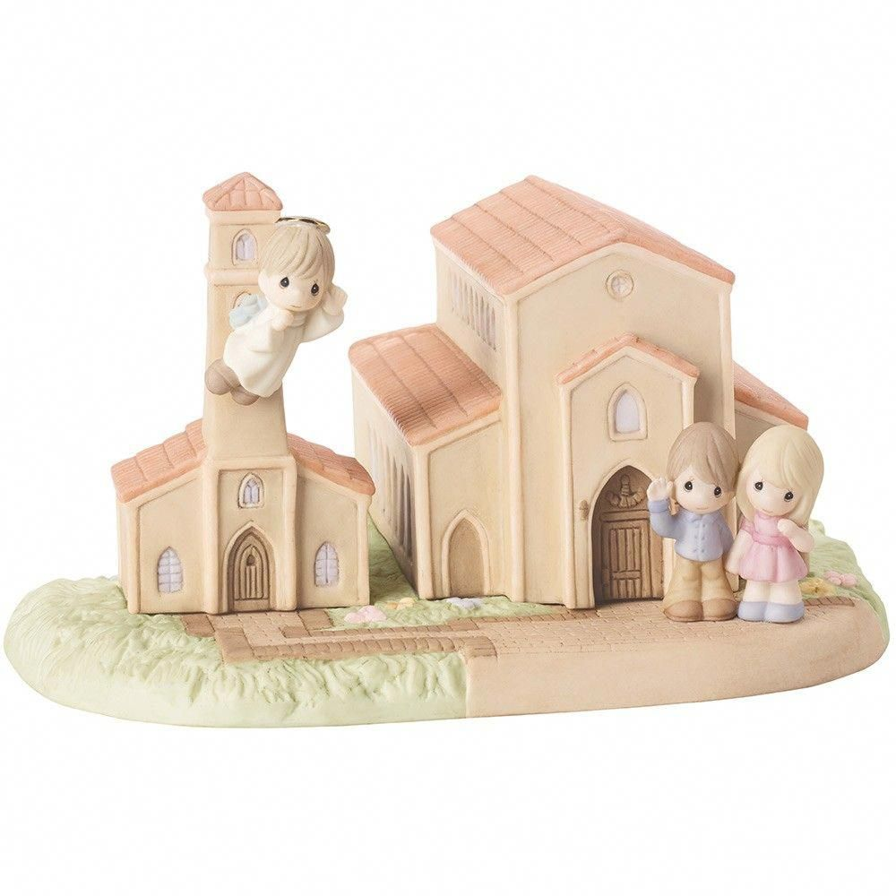 Theres A Blessing Here Bisque Porcelain Figurine Chapel