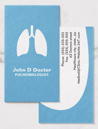 Pulmonology Pulmonologist Business Card Zazzle Com