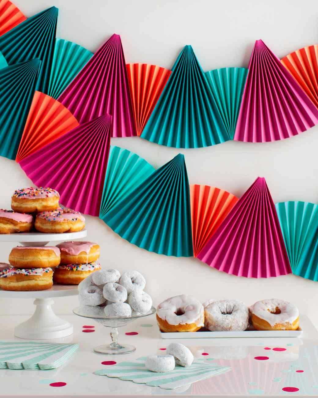 Birthday Decoration: Easy, Festive Paper-Fan Bunting That's Perfect For Any