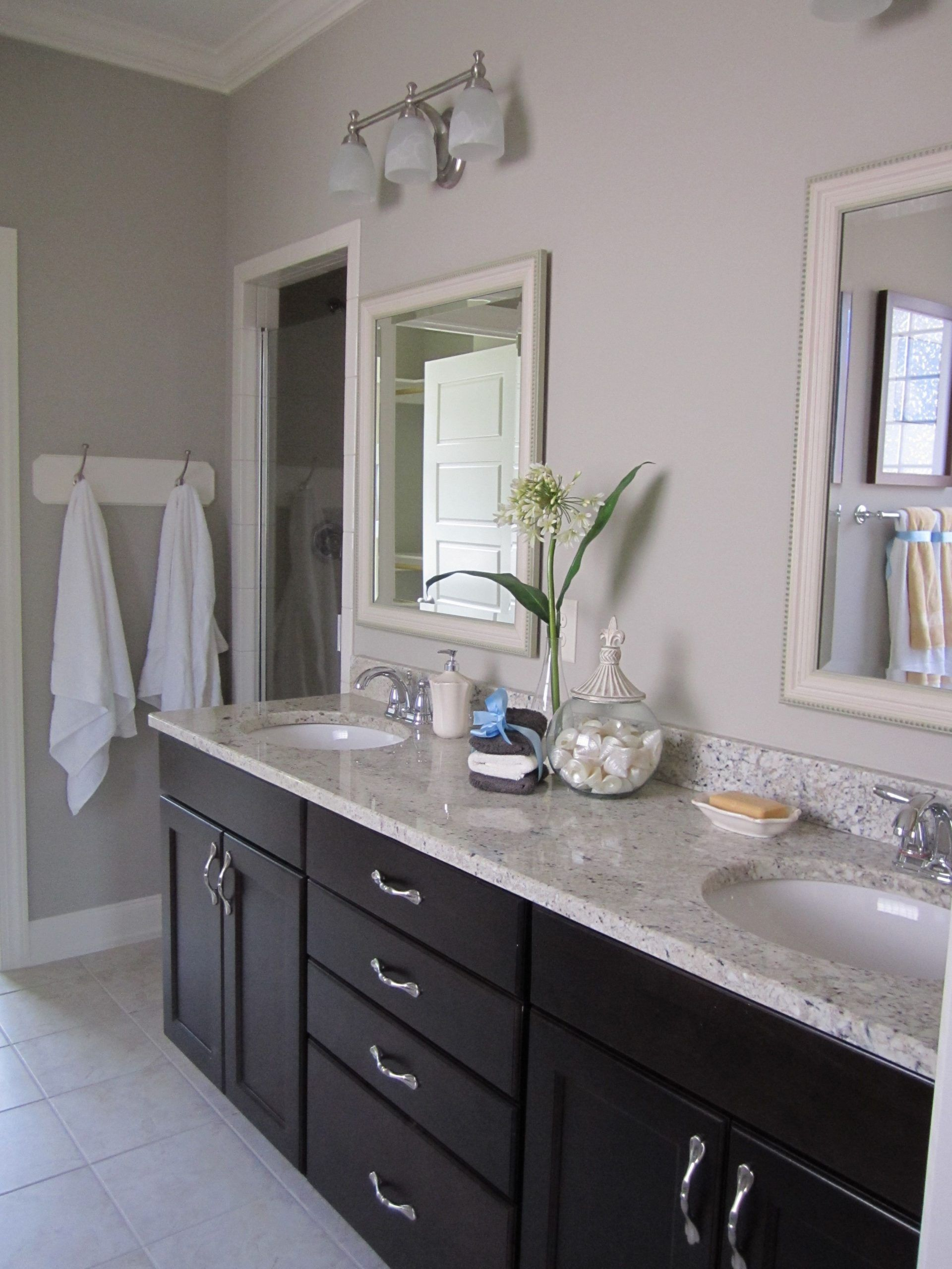 Bathroom Paint Color With Dark Cabinets Bathroom Wall Colors White Bathroom Cabinets Bathroom Countertops [ 2560 x 1920 Pixel ]