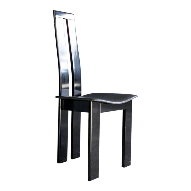Brilliant 1980S Contemporary Black Lacquer Desk Chair In 2019 Onthecornerstone Fun Painted Chair Ideas Images Onthecornerstoneorg