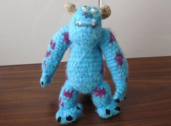 Amigurumi Monsters Inc : Monsters inc inspired sulley amigurumi doll sully amigurumi