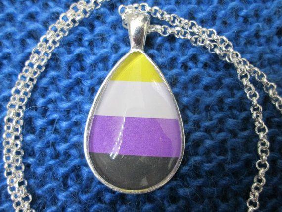 Non Binary Pride Non Binary Gender Pride Flag Pendant Etsy Pride Flags Pride Gifts Silver Necklaces