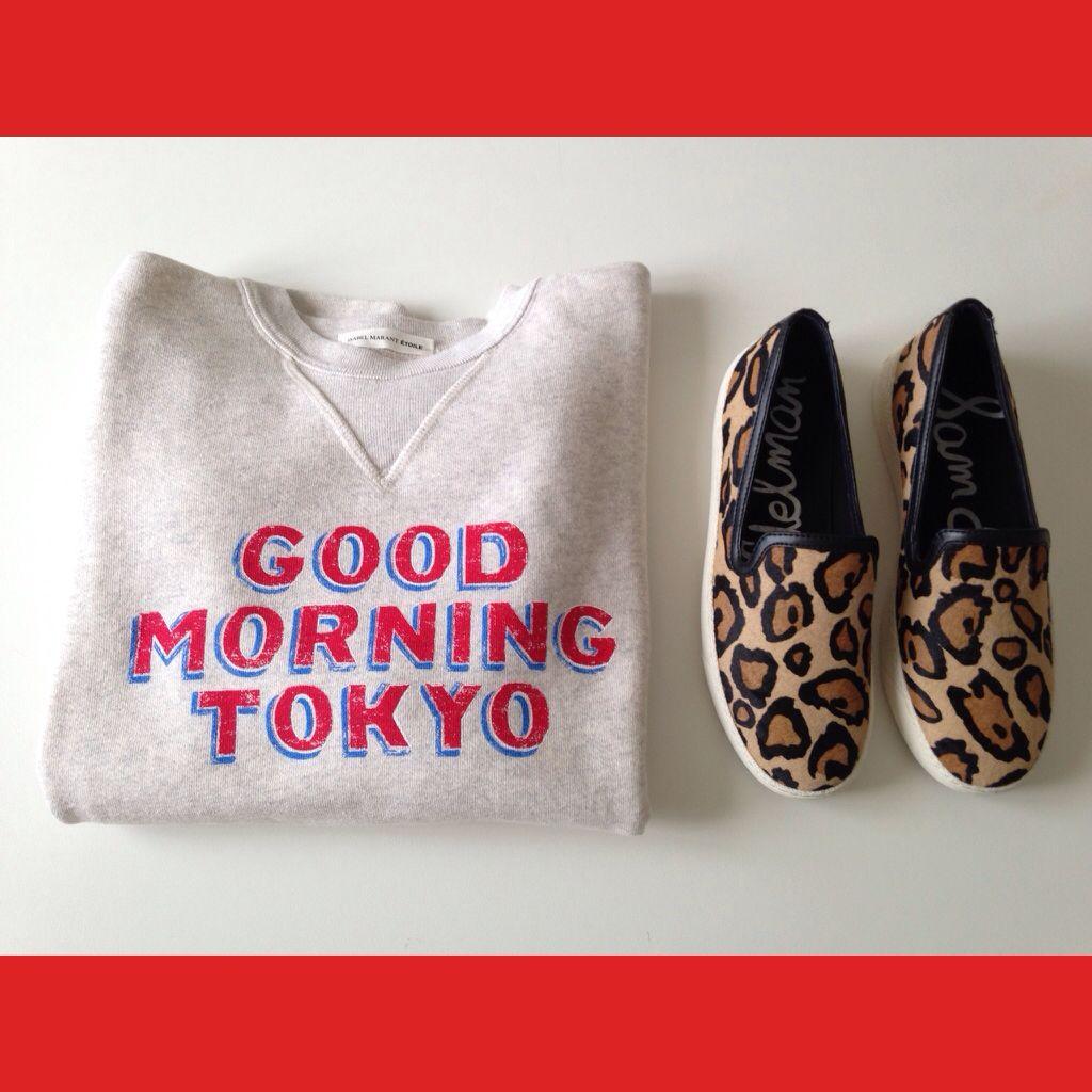 My shopping spree ❤️ Isabel Marant sweatshirt, Sam Edelman slip-on