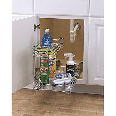 Kitchen Under Sink Storage Basket Cabinet Sliding Drawer Organizer - Under cabinet organizer bathroom for bathroom decor ideas