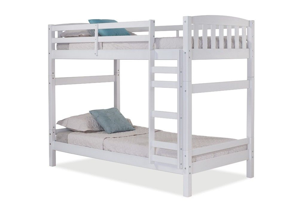 Best Simmons Upholstery Adaptables White Universal Bunk Bed 400 x 300