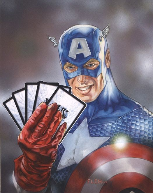 Captain America by Tom Fleming *