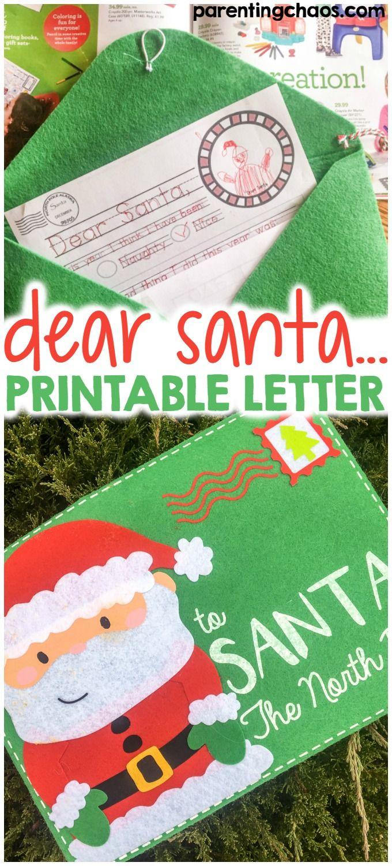 Toysrus Manualidades.Dear Santa Letter Printable Christmas Joy Merry Season