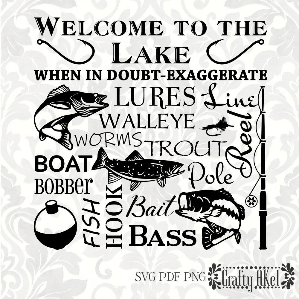 Download Welcome To The Lake Lures Walleye Trout Bass Boat Etsy In 2021 Welcome To The Lake Word Collage Lake