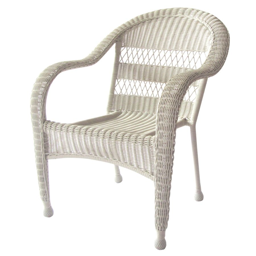 shop garden treasures shearport white steel woven patio chair at lowescom - Lowes Patio Chairs