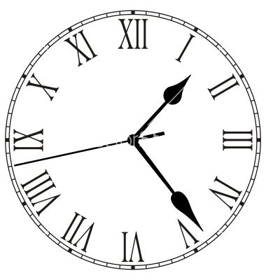 Clock Face Vector Image On Vectorstock Clock Face Clock Clock Face Printable