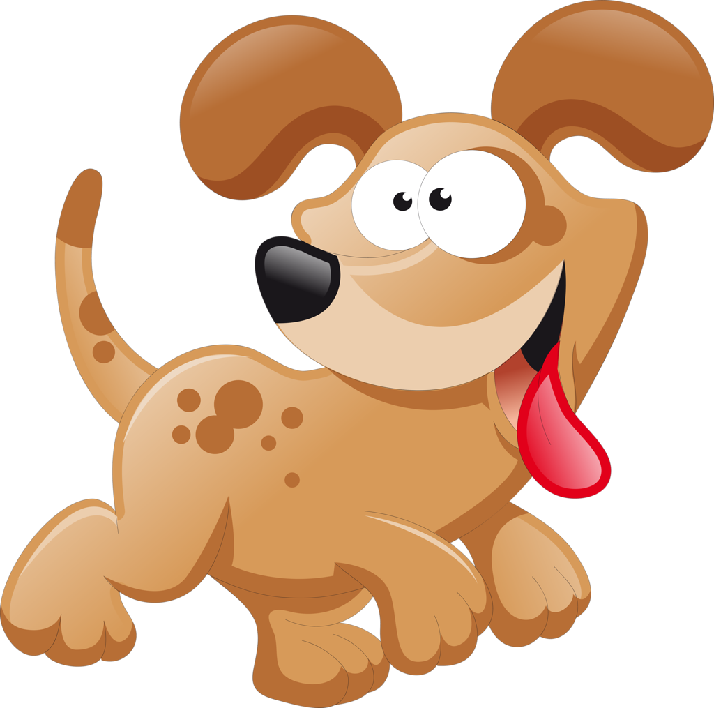 Мультяшная собачка картинка