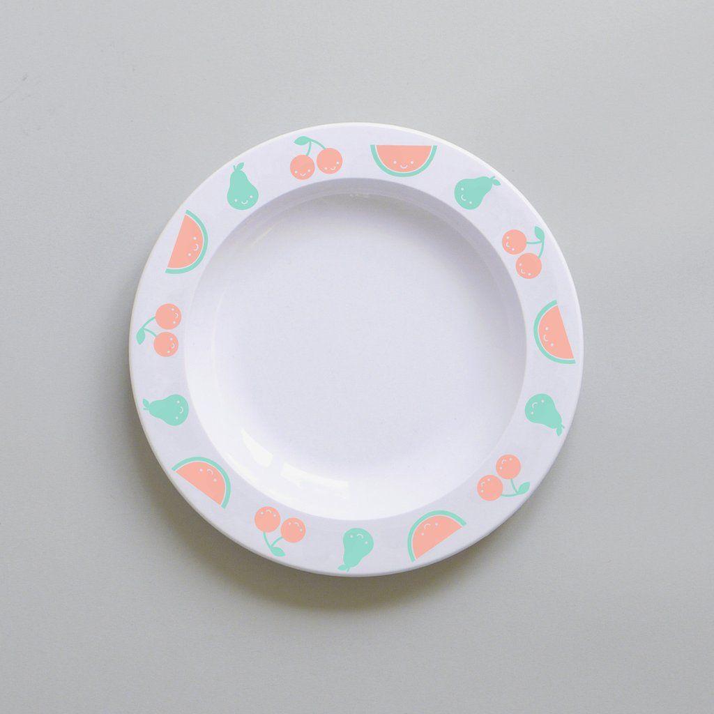 Cute Buddy And Bear Fruit Friends Plastic Plate Colour Kids Melamine Plates Plastic Plates Kids Tableware
