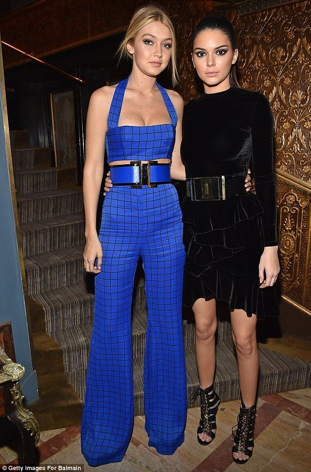 BFFs: Kendall posed for pictures with her close pal and fellow model Gigi Hadid as they en...