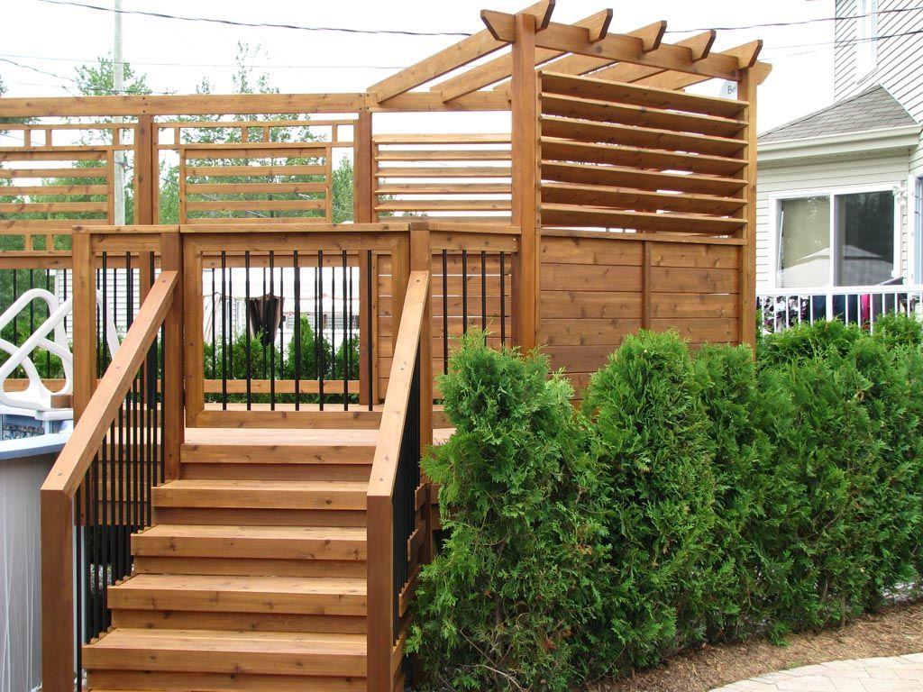 patio piscine moderne pergola et paravent en c dre pools pools pools pinterest patios. Black Bedroom Furniture Sets. Home Design Ideas