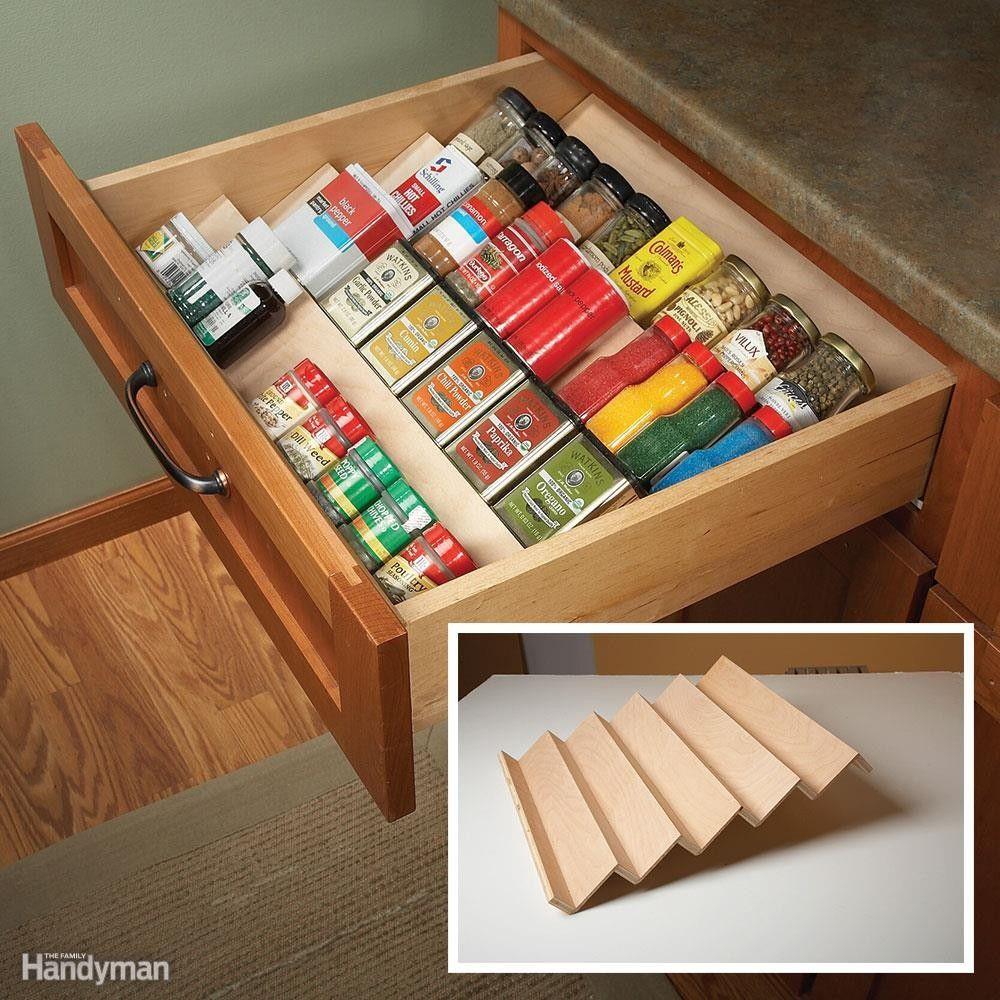 Spice Drawer | Diy kitchen storage, Pantry storage ...