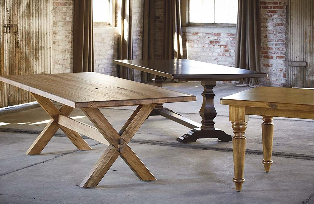 Bassettu0027s BenchMade Artisan Dining Farmhouse Tables are