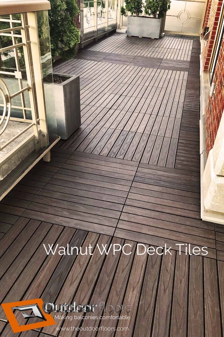 Gorgeous Faux Wood Wpc Decking Tiles On Terrace 2x1 Foot Wood