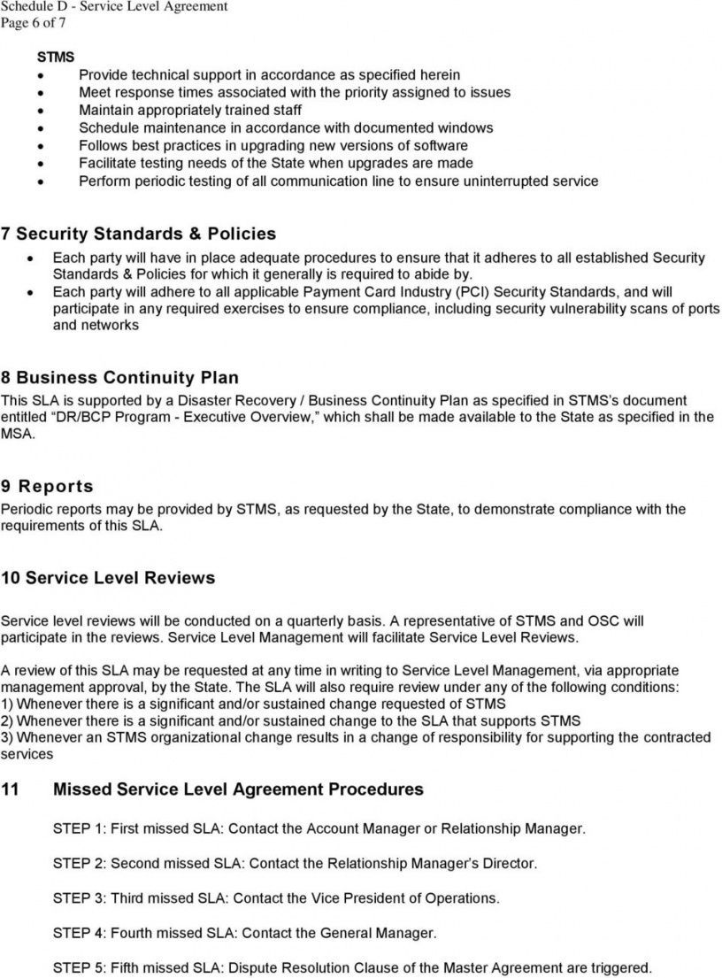 Explore Our Example Of Disaster Recovery Service Level Agreement Template Service Level Agreement Disaster Recovery Agreement It service level agreement template