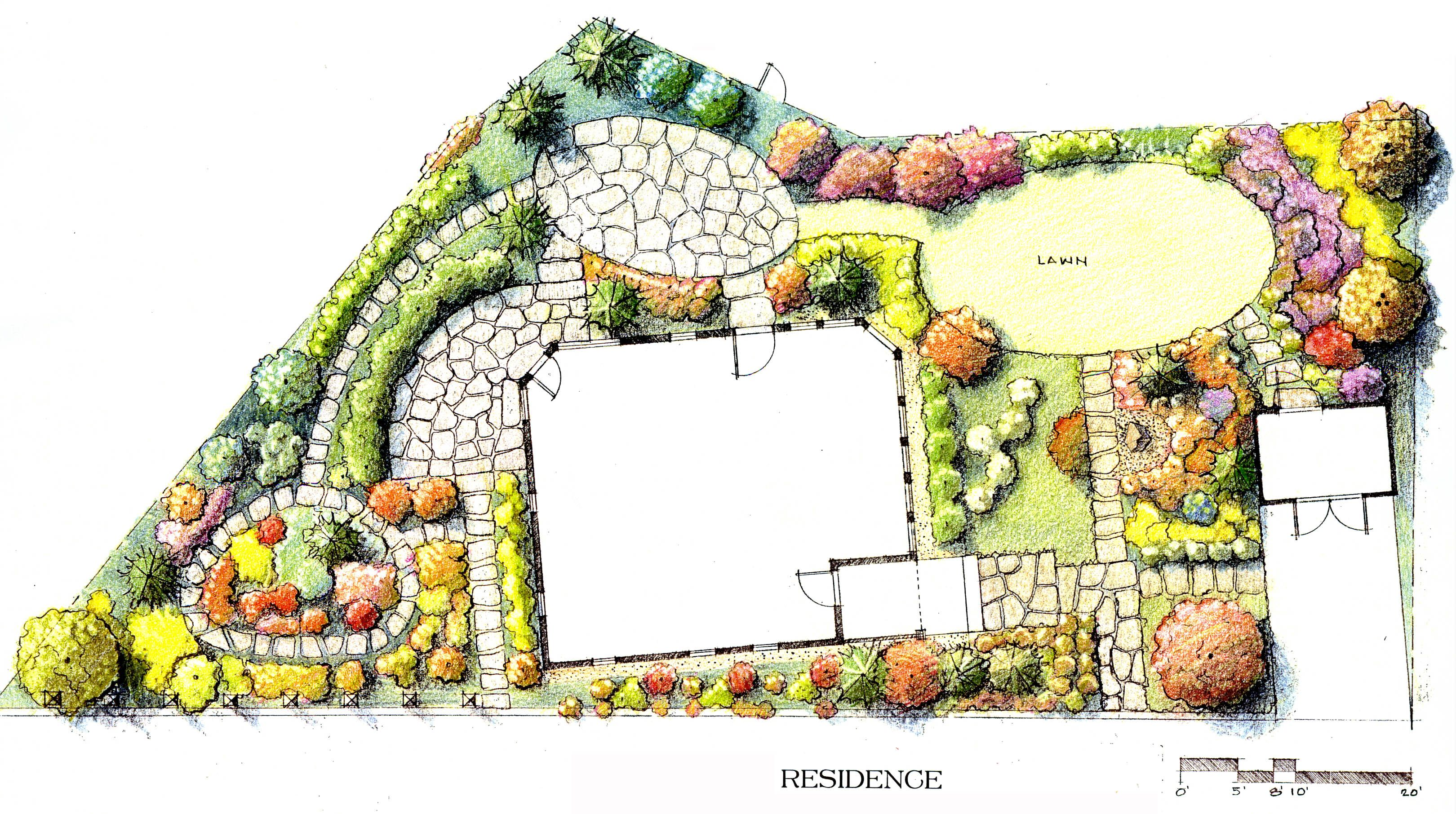 Afbeeldingsresultaat voor beautiful architectural plan for Best landscape design