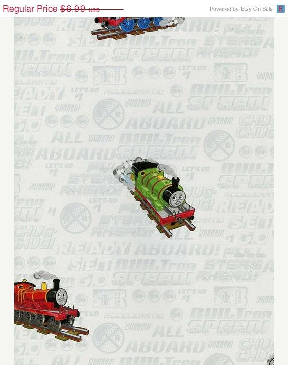 Colorful Train and Friends Wallpaper - Boys, Kids, Childrens Decor - By The Yard - BT2908