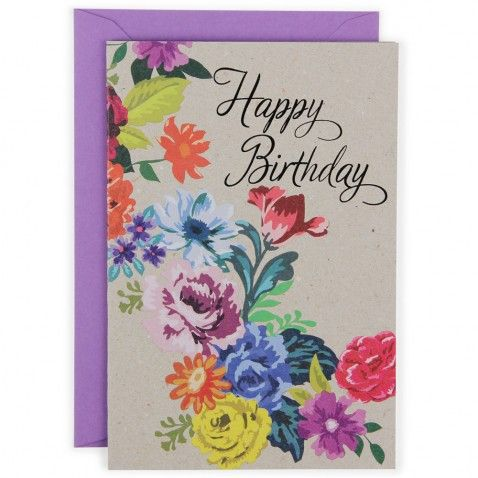 Primavera happy birthday card