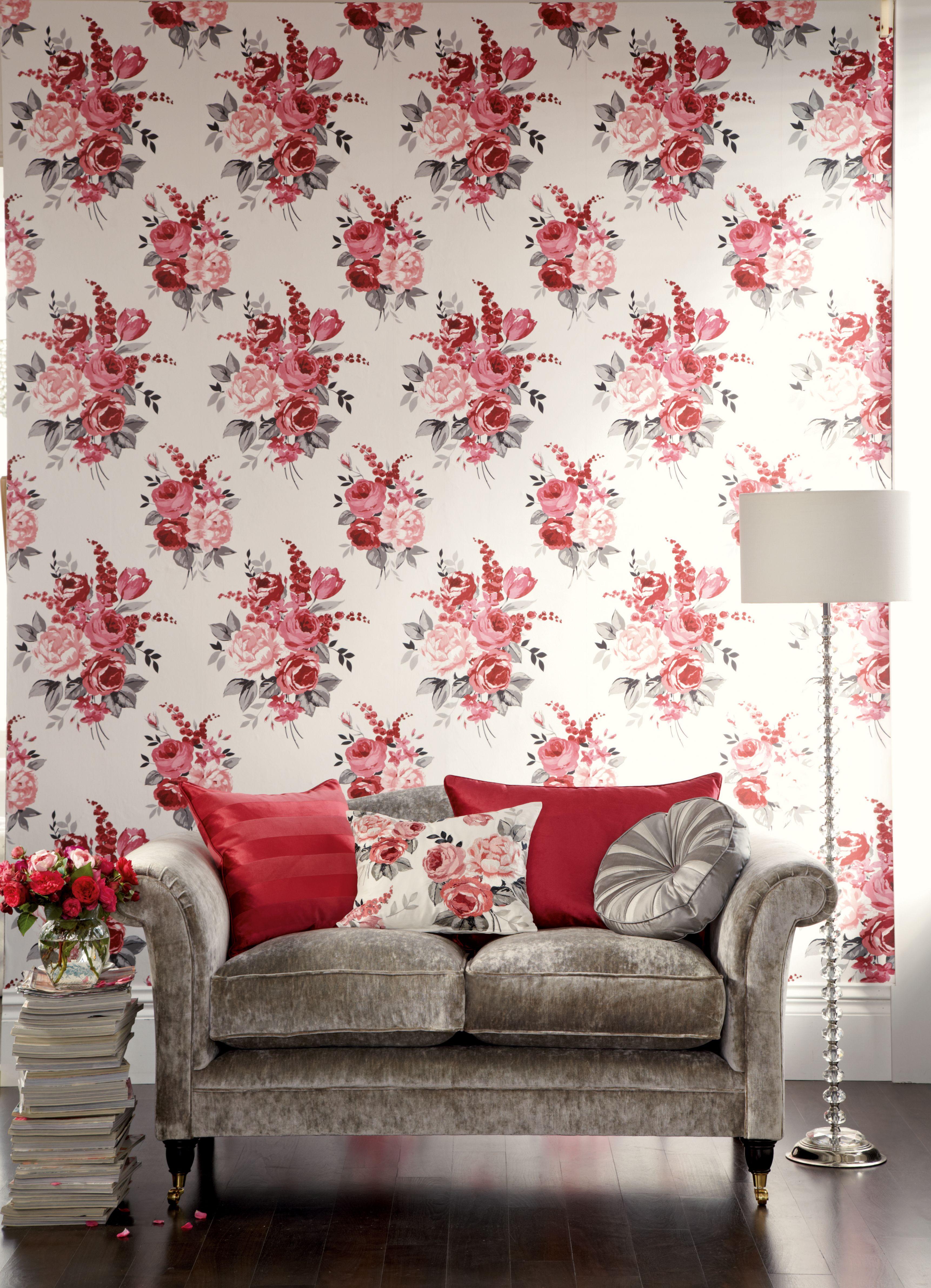 Laura Ashley Usa Living Room Wall Wallpaper Decor Home D