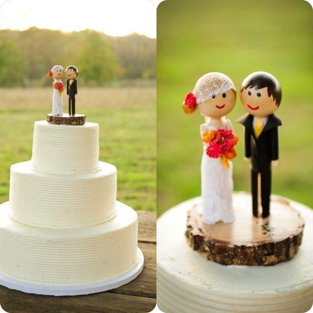 Cake topper for my cousin's wedding. She sent me a picture of one she found on Etsy that was super expensive.