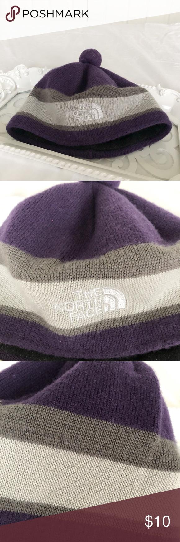 c2772f22b85 Kids  The North Face Purple Grey Beanie A cute beanie
