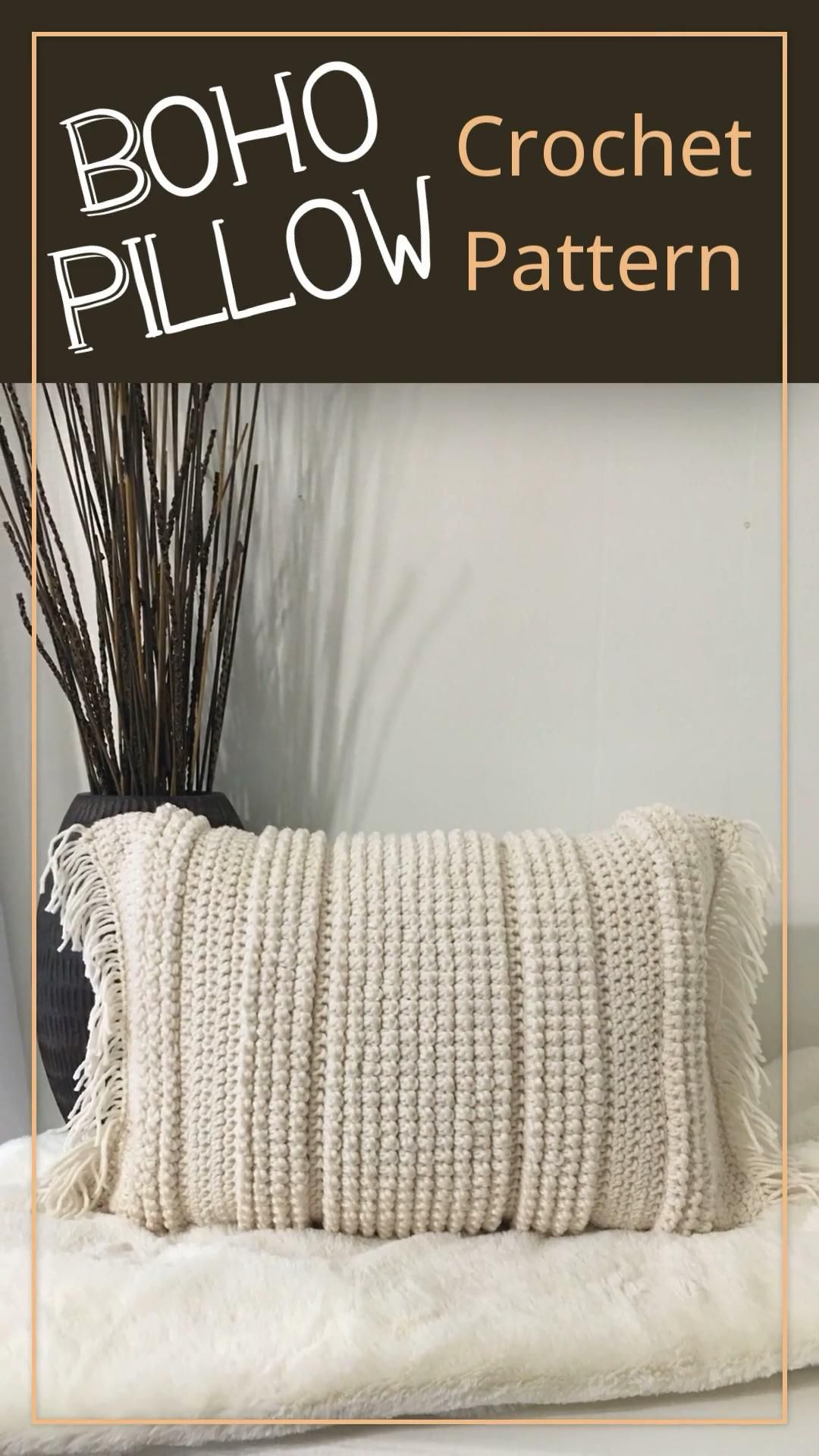 Boho Pillow- Crochet PATTERN- by Tracy Phillips @ A Frayed Knot Boutique
