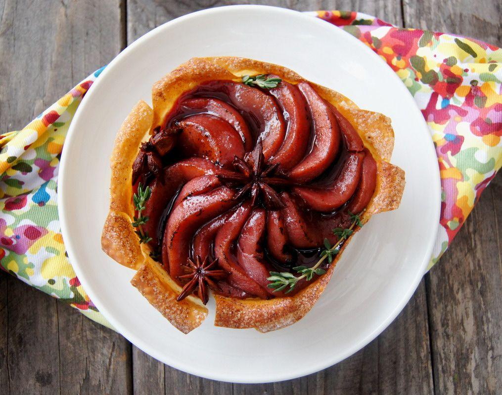 Gojee Port Wine Mascarpone Pear Tart Tart Recipes Pear Tart How Sweet Eats
