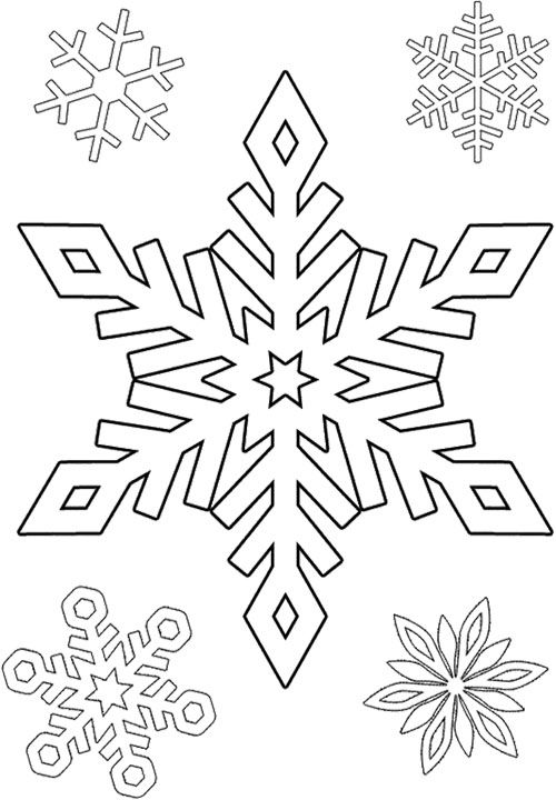 Cute Snowflake Coloring Page Snowflake Coloring Pages Christmas