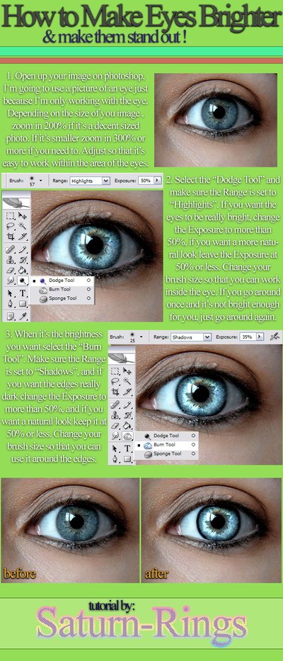 How to Make Eyes Brighter In #Photoshop