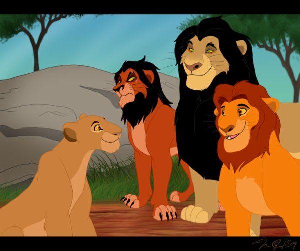 Ahadi,Mufasa,Taka/Scar meet Sarabi | My Lion King ...