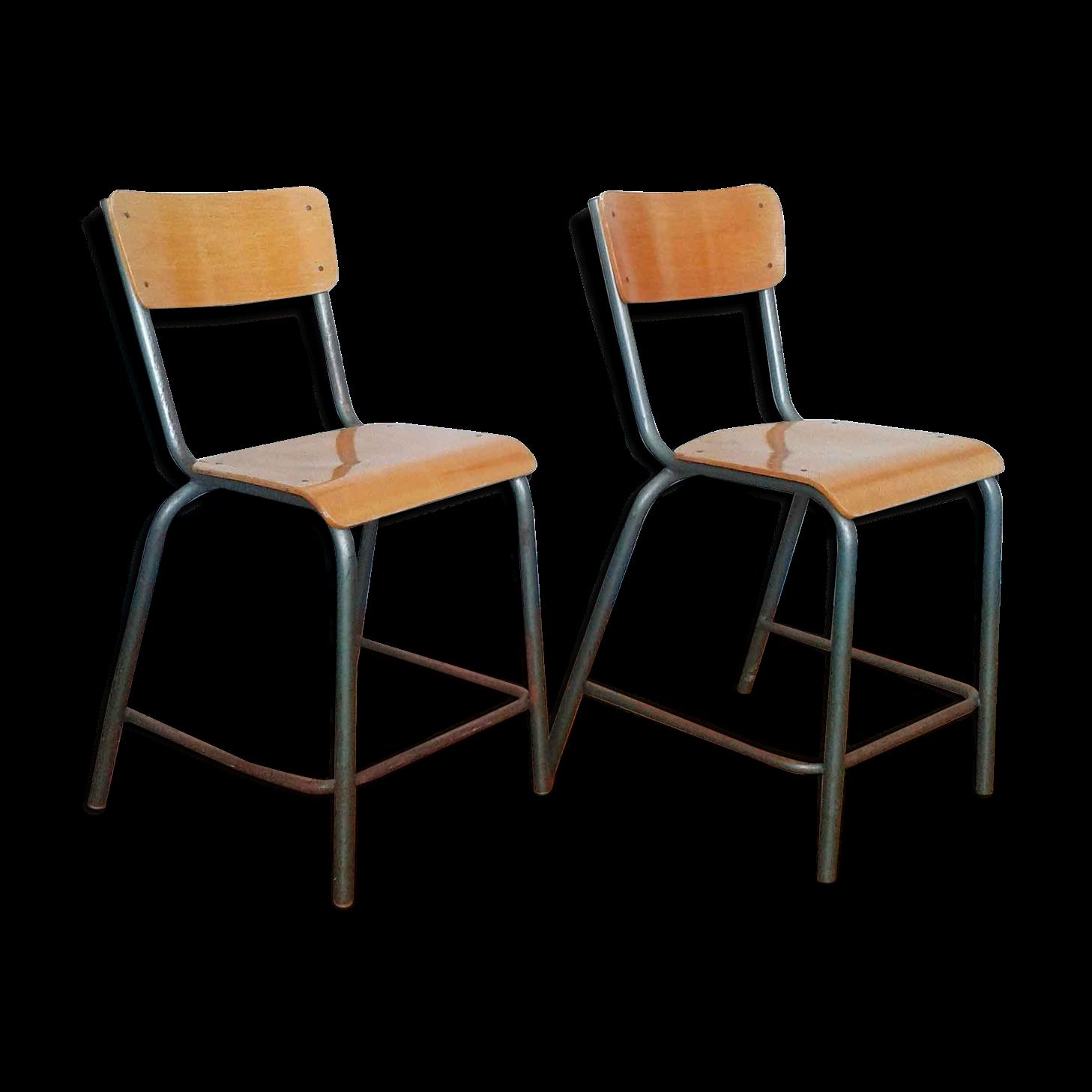 Chaise D École Mullca paire de chaises d'école type mullca | chaise, chaise bar