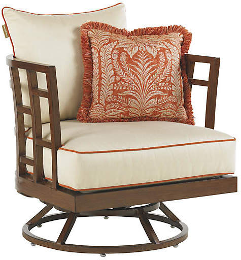 Tommy Bahama Pacifica Swivel Lounge Chair - Off-White Products in