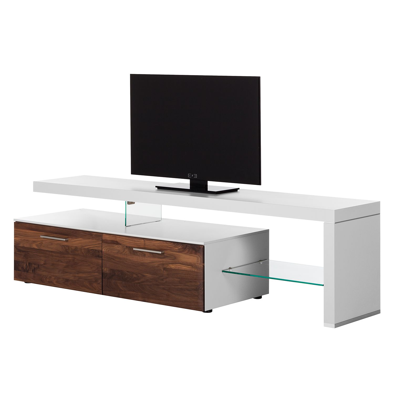 TV-Lowboard Solano I - Ohne Beleuchtung - Nussbaum / Weiß - Mit TV-Bank rechts Jetzt bestellen unter: https://moebel.ladendirekt.de/wohnzimmer/tv-hifi-moebel/tv-lowboards/?uid=bec58b85-515f-5981-952e-7ef4872f3348&utm_source=pinterest&utm_medium=pin&utm_campaign=boards #tvlowboards #wohnzimmer #tvhifimoebel