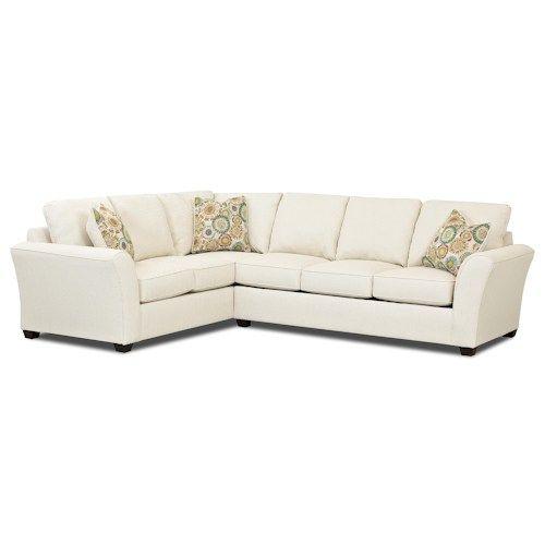 Bon Klaussner Sedgewick Transitional 2 Piece Sectional Sleeper Sofa With  Innerspring Mattress